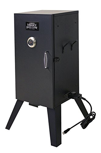 (Smoke Hollow 26142E  26-Inch Electric Smoker with Adjustable Temperature Control)