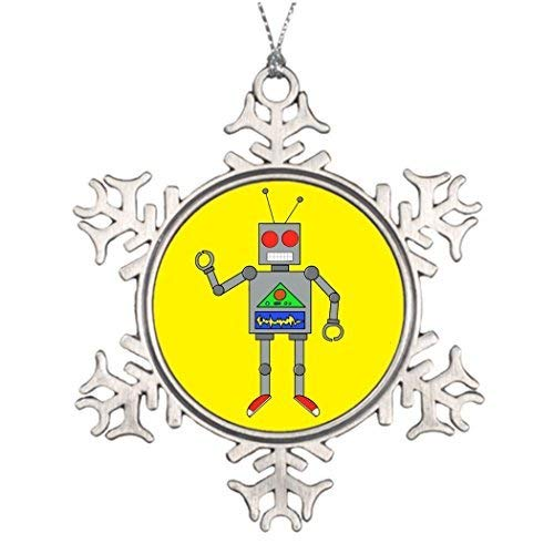 Zora Camp Tree Branch Decoration Red Shoes Robot Yellow Pin Make Your Own Christmas Snowflake Ornament ()