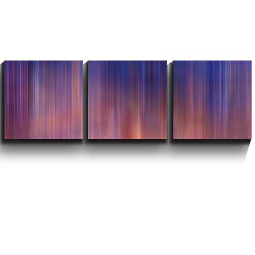 3 Square Panels Contemporary Art Abstract vivid color streaks Three Gallery ped Printed Piece x 3 Panels