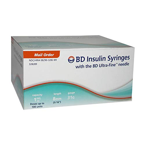 BD Ultra-Fine Insulin Syringes 31G 1cc 5/16
