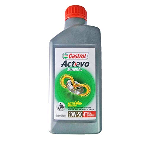 Oleo De Moto Castrol Actevo 20w50 Mineral 4T API SL 1lt