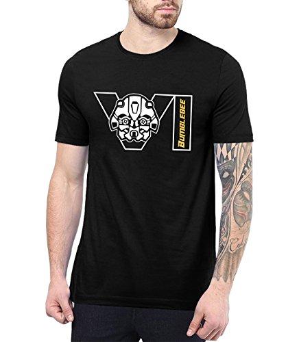 Mens Bumblebee Transformers Costume Merchandise Tee Shirt | Bumblebee Face Logo, 2XL -