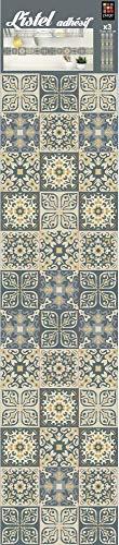 Plage 260006 3 Self-Adhesive Wall Borders Old Tiles Ciola - (5 x 60 cm), Multicolour (180 x 5 cm)