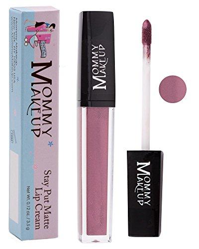 (Stay Put Matte Lip Cream   Kiss-Proof Matte Lipstick - Paraben Free - Roxie, a plum with shimmer)