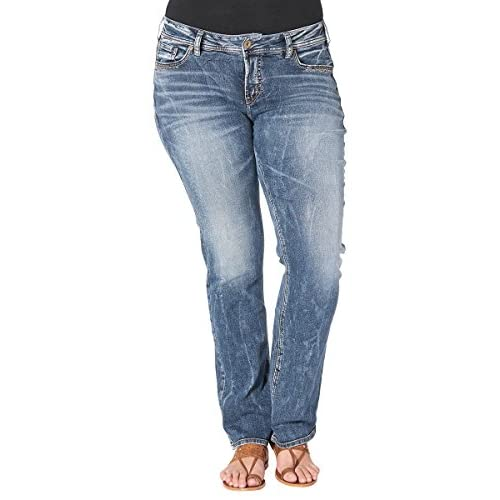 hot sale 2017 Silver Jeans Co. Women&39s Plus Size Jeans Suki Rise