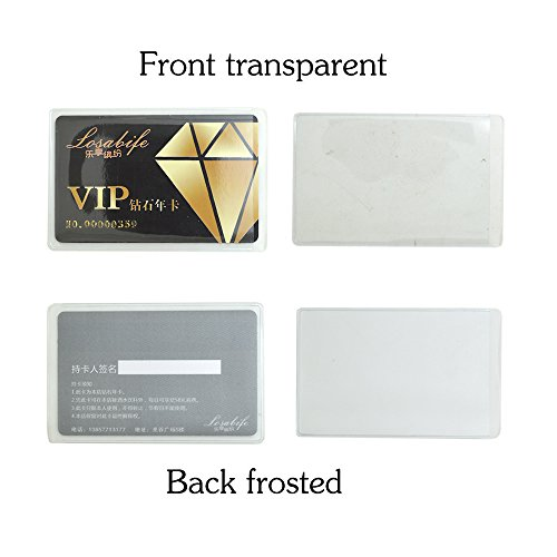 Bronagrand 20pcs Soft Transparent Frosted Vertical Id Credit Card