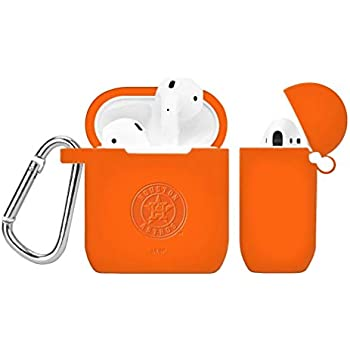 GAME TIME Houston Astros Debossed Silicone Case Cover Compatible with AirPod Battery Case Orange
