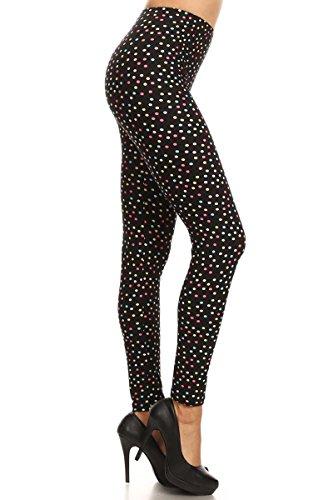 Dot Print Legging - S565-PLUS Dipped Dots Print Fashion Leggings