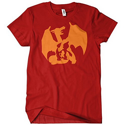 Evolution of Charmander T-Shirt Funny Adult Mens Cotton Tee Sizes S-5XL