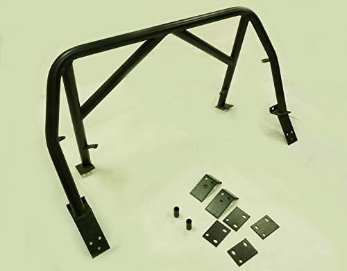 (OBX Racing Sports 4-Points Roll Bar & Door Bars Black 99-05 Mazda Miata MX5 MX-5 Double Diagonal)