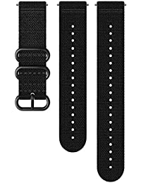 Suunto Watch Strap, 24mm, Textile, Black- Explore, M+L: 130-240 mm