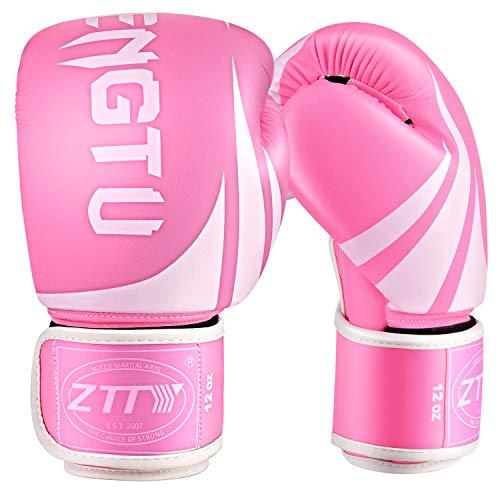 ZTTY Boxing Gloves Kickboxing Muay Thai Punching Bag MMA Pro Grade Sparring Training Fight Gloves for Men & Women