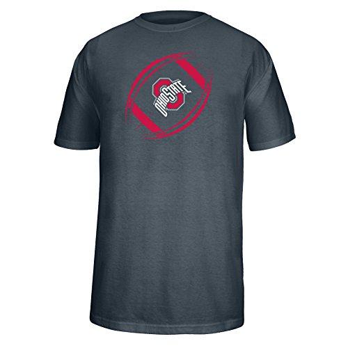 J America NCAA Ohio State Buckeyes Men's Football Icon Choice Tee, Charcoal, X-Large
