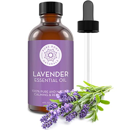 French Lavender Essential Oil Blend by Pure Body Naturals, 4 Fluid Ounces - 100% Pure, Independently Tested, Therapeutic Grade for Aromatherapy or Cosmetics with Glass Eye Dropper (Packaging may vary) (Best All Natural Body Oil)