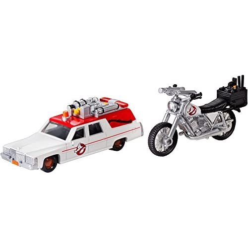 Mattel Hot Wheels drw73–Ghostbusters Premium Ecto 1et Ecto 2miniature modèles, Lot de 2