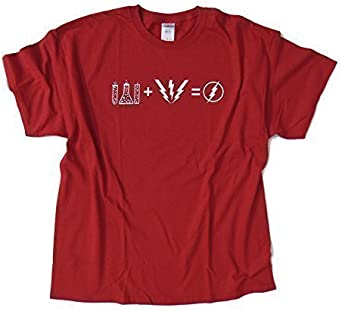 FLASH Fórmula - Big Bang Theory inspirada diseño - Rojo Camiseta ...