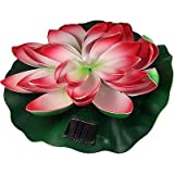 "Solar Floating Water Lily 10"" Pad"