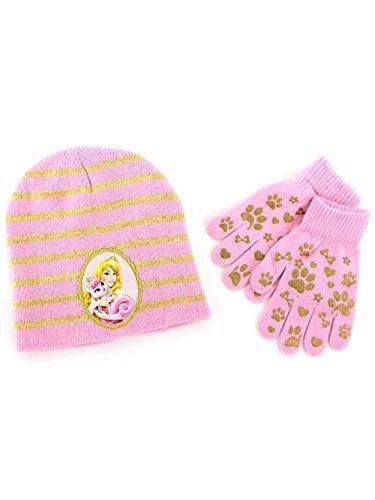attel Girls Hat and Gloves Set (Pink Aurora & Beauty) ()