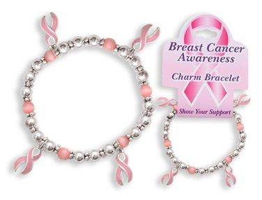 DM Merchandising Pink Ribbon Charm Bracelet
