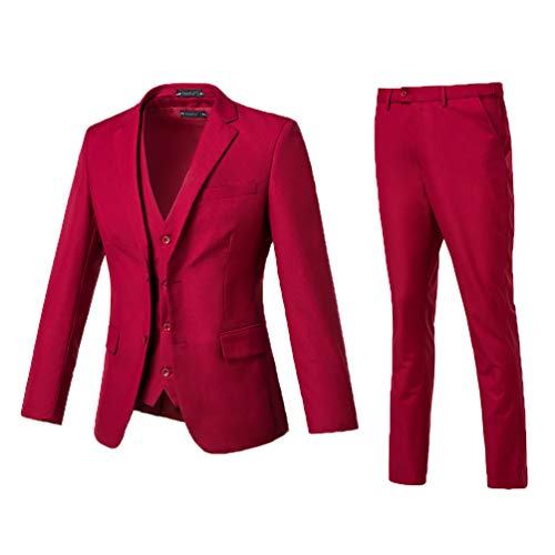 High-End Suits 3 Pieces Men Suit Set Slim
