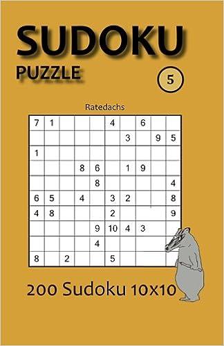 Book Sudoku Puzzle 5: 200 Sudoku 10x10