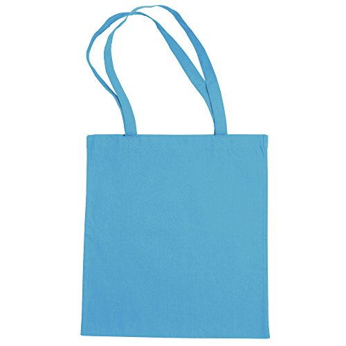 """Jassz Bags """"Beech"""" Cotton Large Handle Shopping Bag / Tote Turquoise"""
