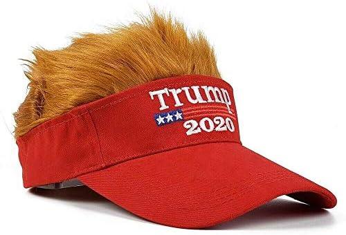 Migi  Hat With Hair 2020 Wig Visor Keep America Great Maga Hat Usa Cap Red Same