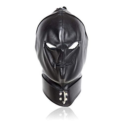 21kingeh Vibrators Toys for Adult Faux Leather Hood Full Mask Eyes & Nostril Sex Toy L027 2018 New Try Sex by 21kingeh
