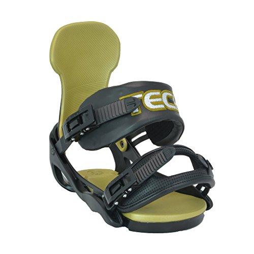 Technine Carbon Classic Snowboard Bindings Large Black