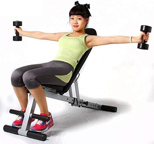 USTHOY アジャスタブルベンチ重量ベンチシットアップチェア多機能腹部ボードホームフィットネス機器腹部、腰のトレーニングワークアウトベンチ (Color : Black, Size : 123x42x45cm)
