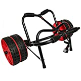 Onefeng Sports Universal Kayak Cart Boat Carrier for Carring Kayaks Canoes Boat Float Mats Tote Trolley (Double Wheels)