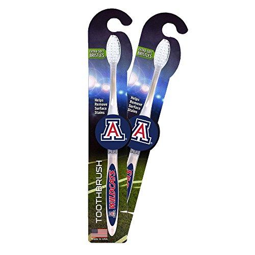Worthy Promotional NCAA Arizona Wildcats Toothbrush 2-pack. Sturdy Design, Soft Bristles ()