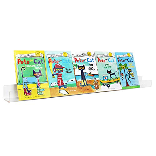 NIUBEE Kids Acrylic Floating Bookshelf 36 Inch,Clear Invisible Wall Bookshelves Ledge Book Shelf,50% Thicker with Free Screwdriver