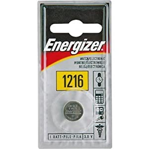 Energizer 1216 Batteries 3V Lithium, (1 Battery Count)