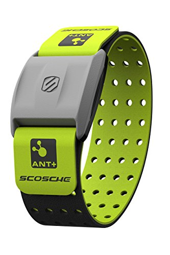Scosche RHYTHM+ Heart Rate Monitor Armband Green Optical Heart Rate Armband Monitor With Dual Band Radio ANT+ and Bluetooth Smart RTHM1.9GN
