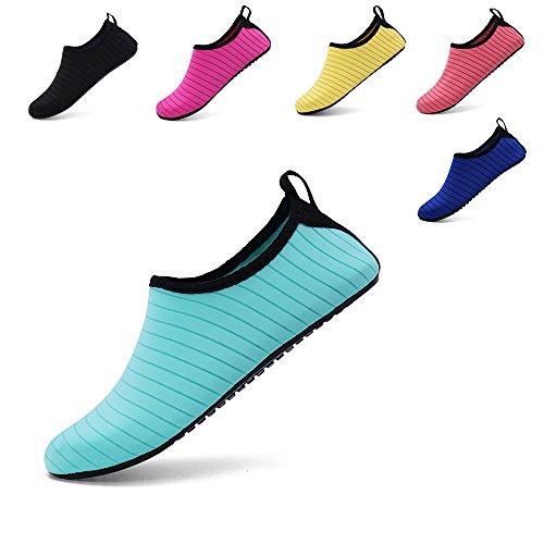 8eea21b0b9b Zefani Unisex Quick Drying Summer Outdoor Water Shoes Aqua Socks for Beach  Swim Surf Yoga Exercise Green M