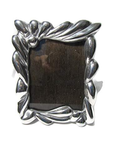 El Relicario de Los Tesoros Mexican Solid Pewter Table Picture Frame Mexican Folk Art (Rustic Ribbons, 5