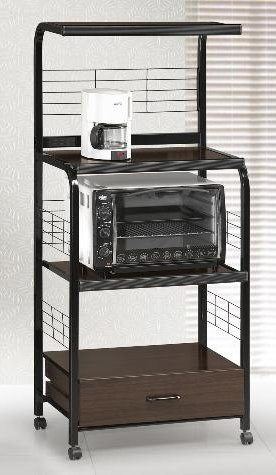 Image Unavailable  sc 1 st  Amazon.com & Amazon.com : New Black Metal Finish Rolling Microwave Cart with ...