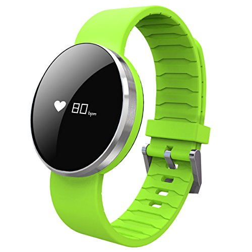 Bluetooth Smart Watch Bracelet Blood Pressure Heart Rate Monitor Pedometer for iPhone Android Cellphone Green by HopCentury