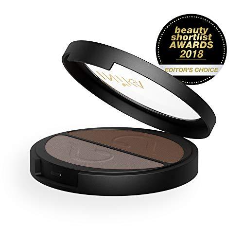 INIKA Pressed Mineral Eye Shadow Duos, All Natural Eye Make-up Formula, Long-Lasting, Vibrant Colors, Vegan, 3.9 g (Choc ()