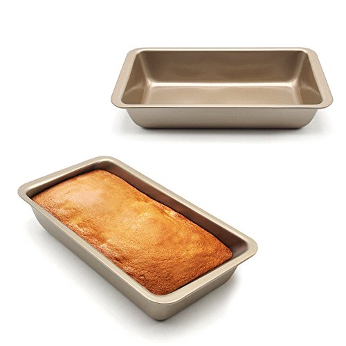 Loaf Pan, MZCH Rectangular Bread Toast Pan, Nonstick Quick Release Coating, 9 Inches by 5 Inches, Gold