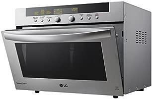 LG MA3884VCT - Microondas 4 en 1, convección máxima 2.800 W, grill 1600 W, microondas 900 W y 38 l de capacidad, acero inoxidable