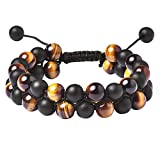 Tigerstar Braided Gemstone Healing Bracelet (Yello Tiger Eye 8mm)