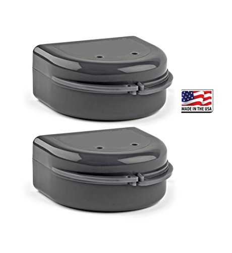 Price comparison product image 2 Pack- Snap Lock Retainer Case; Stealth Black