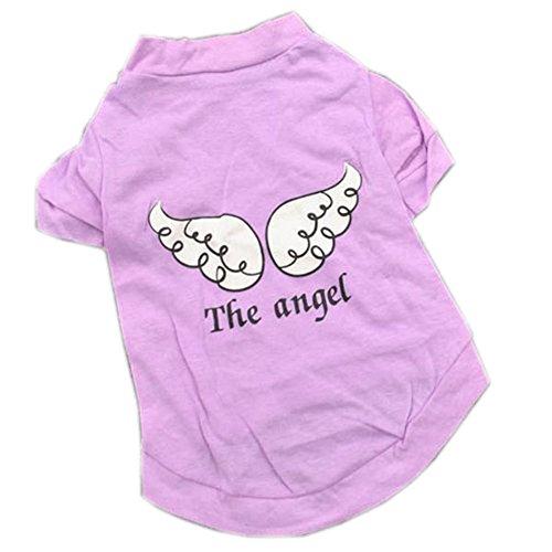 PanDaDa Puppy Pet Dog Wing T Shirt Vest Apparel Clothes Coat Costume Purple ...