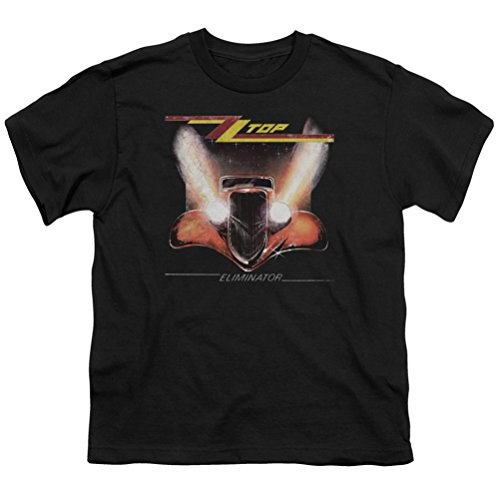 Kids ZZ Top Eliminator Cover Youth T-shirt, Black, Medium