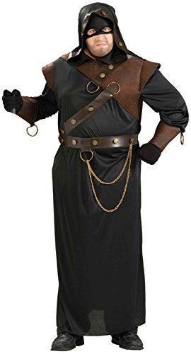 Forum Novelties Men's Medieval Executioner Costume, Black/Brown, Plus -