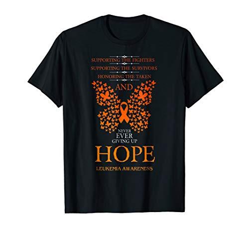 - Hope Leukemia Awareness Orange Ribbon T-Shirt