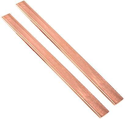 Zewoi 2ST Kupferbarren Platte flach Cu Metallblechstreifen DIY Conductive Industrie, 500mm Länge,1.5mm x 10mm x 500mm