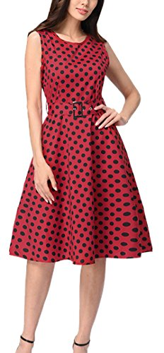 Rotondo Abito Cocktail Donna Moda Fox Festa Vestito Estivo Collo Senza Stampa A Rosso3 Vestiti Tunica Vintage Knielang ulein Partito Da Maniche Spiaggia Fr 50s DYH9IWE2